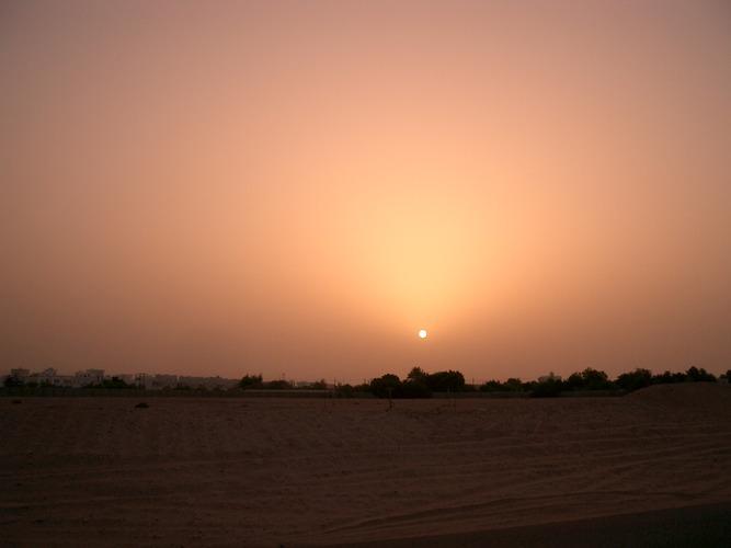 Sonnenuntergang in Gubrah