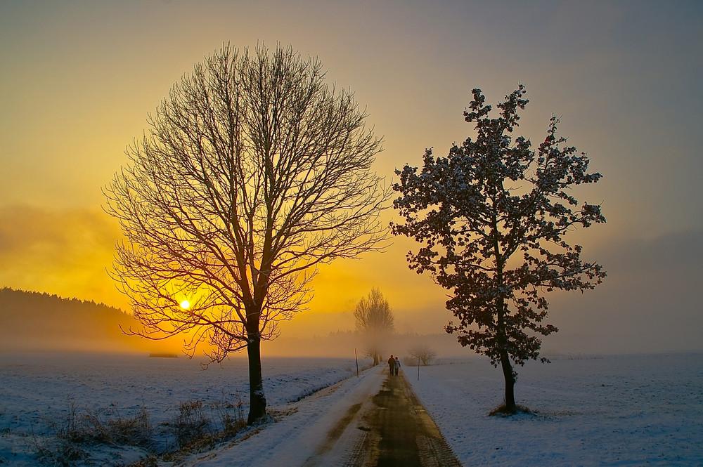 Sonnenuntergang in Haarmoos