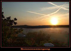 Sonnenuntergang in Hardegsen