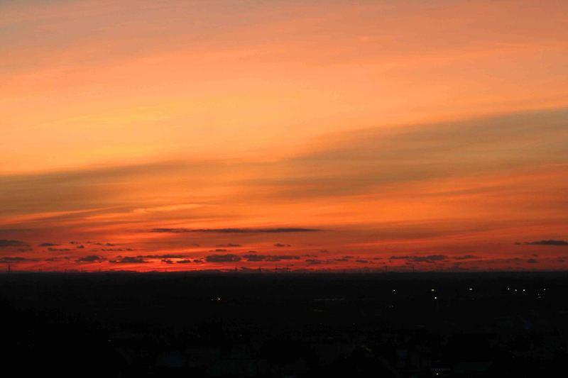 Sonnenuntergang in Harrislee
