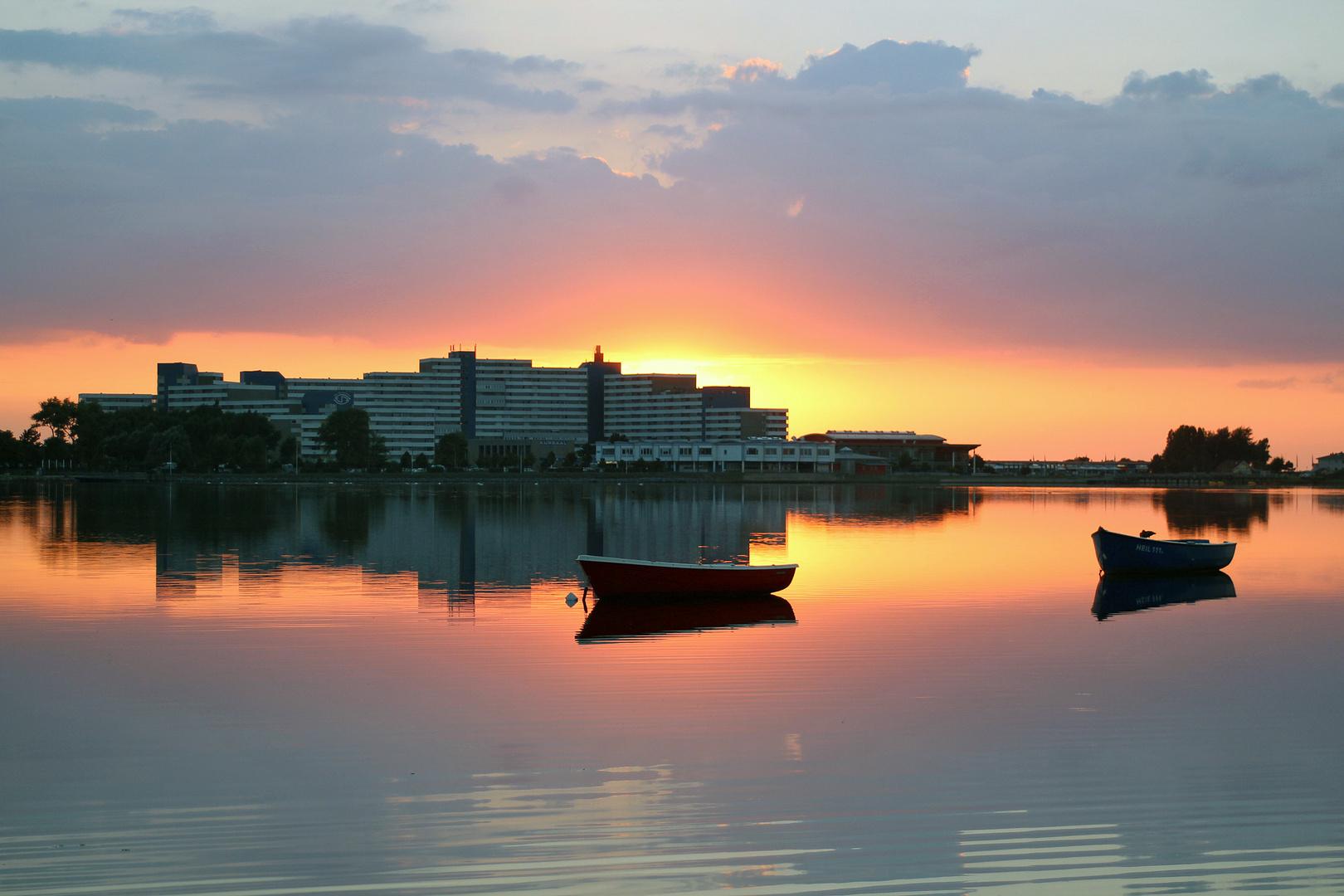 Sonnenuntergang in Heiligenhafen