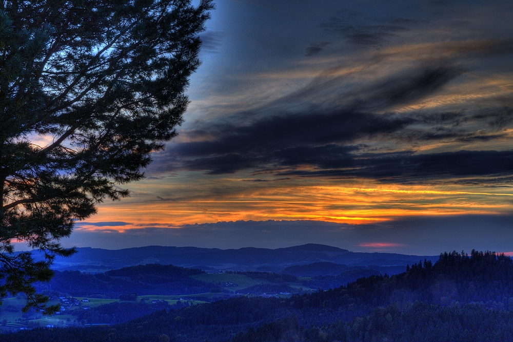 Sonnenuntergang in Hörleinsödt