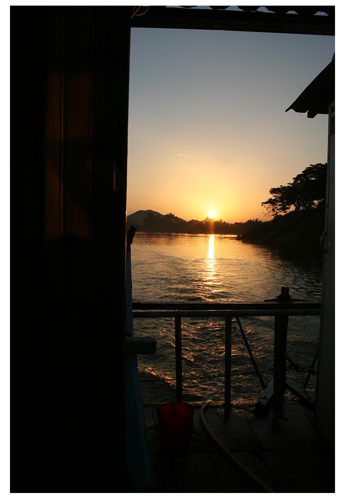 Sonnenuntergang in Hue City