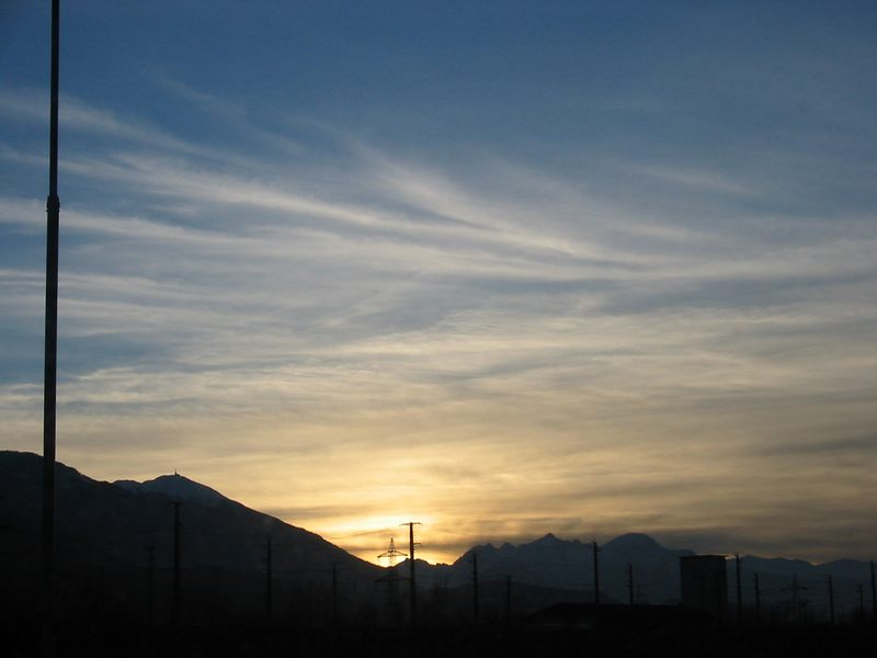 Sonnenuntergang in Innsbruck