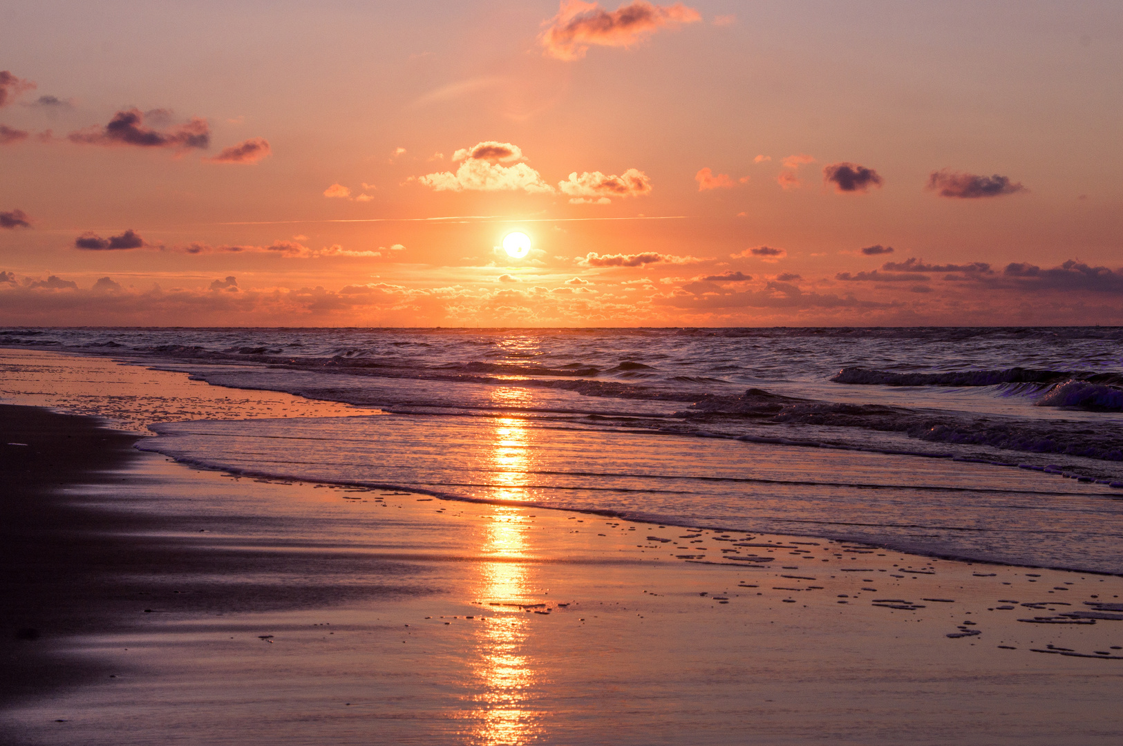 Sonnenuntergang in Juist