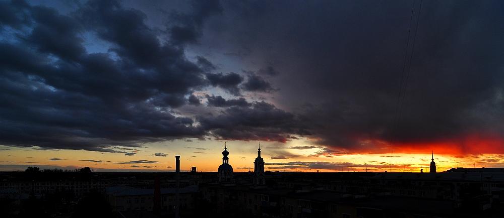 Sonnenuntergang in Kaluga