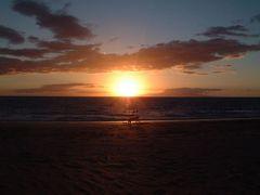 Sonnenuntergang in Kihei auf Maui