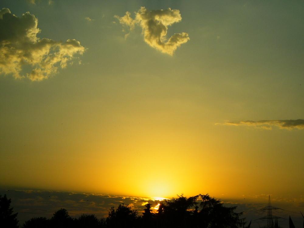 Sonnenuntergang in Kirchhellen