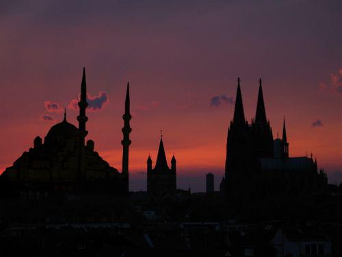 Sonnenuntergang in Köln...
