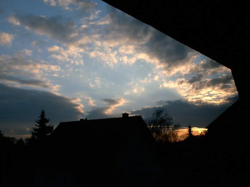 Sonnenuntergang in Köthen