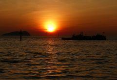 Sonnenuntergang in Kota Kinabalu
