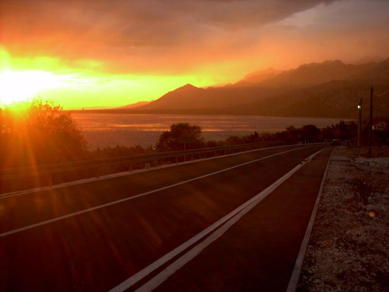 Sonnenuntergang in Kroatien II