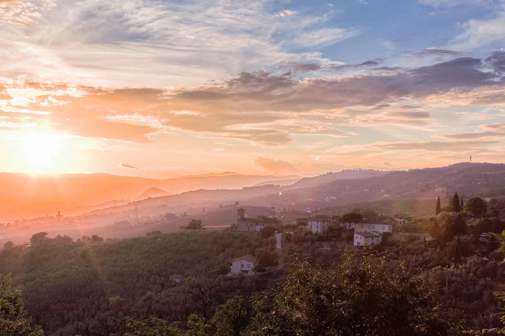 Sonnenuntergang in Lamporecchio