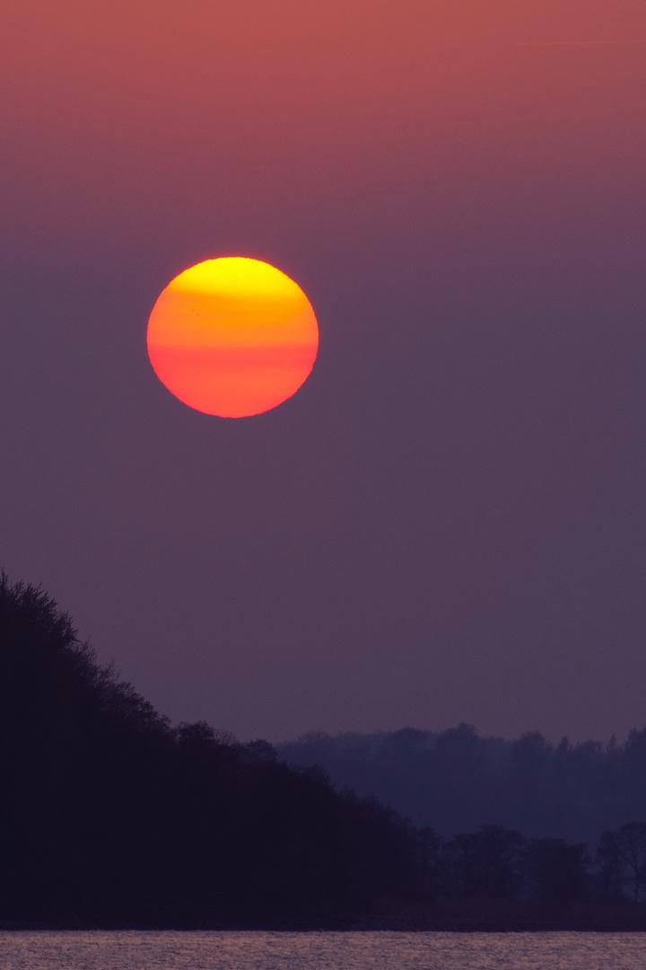 Sonnenuntergang in Langballigau, 1.Version