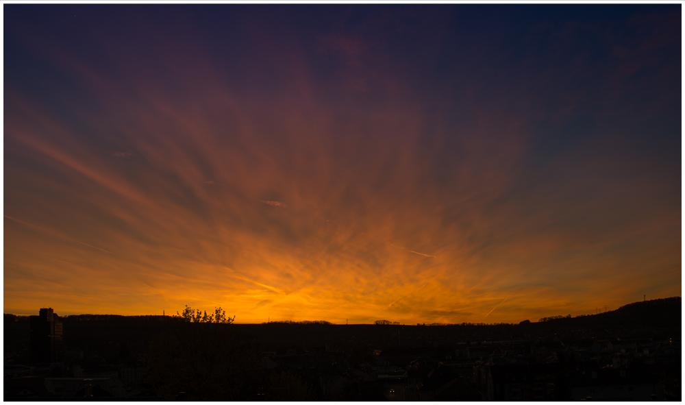 Sonnenuntergang in Lörrach