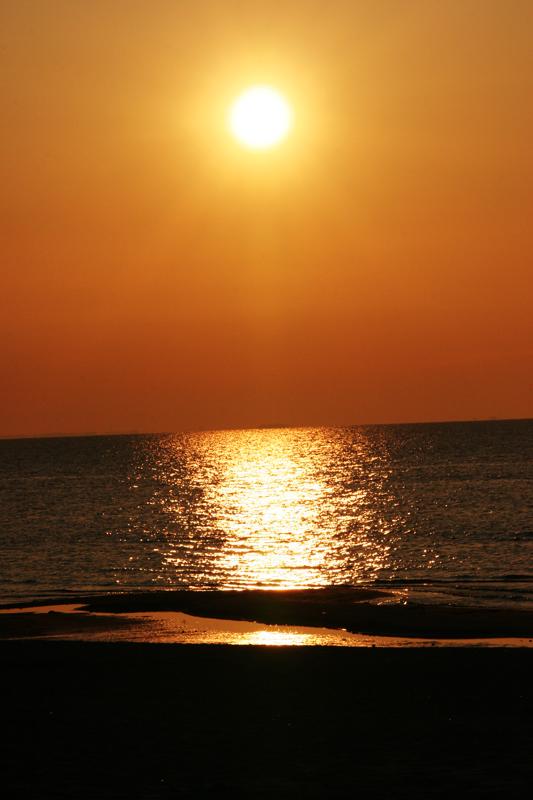 Sonnenuntergang in Lubmin ....