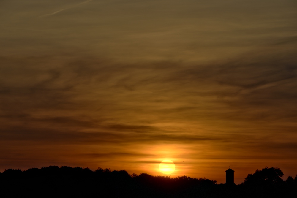 Sonnenuntergang in Lünen am 31. Mai - Aufnahme 1