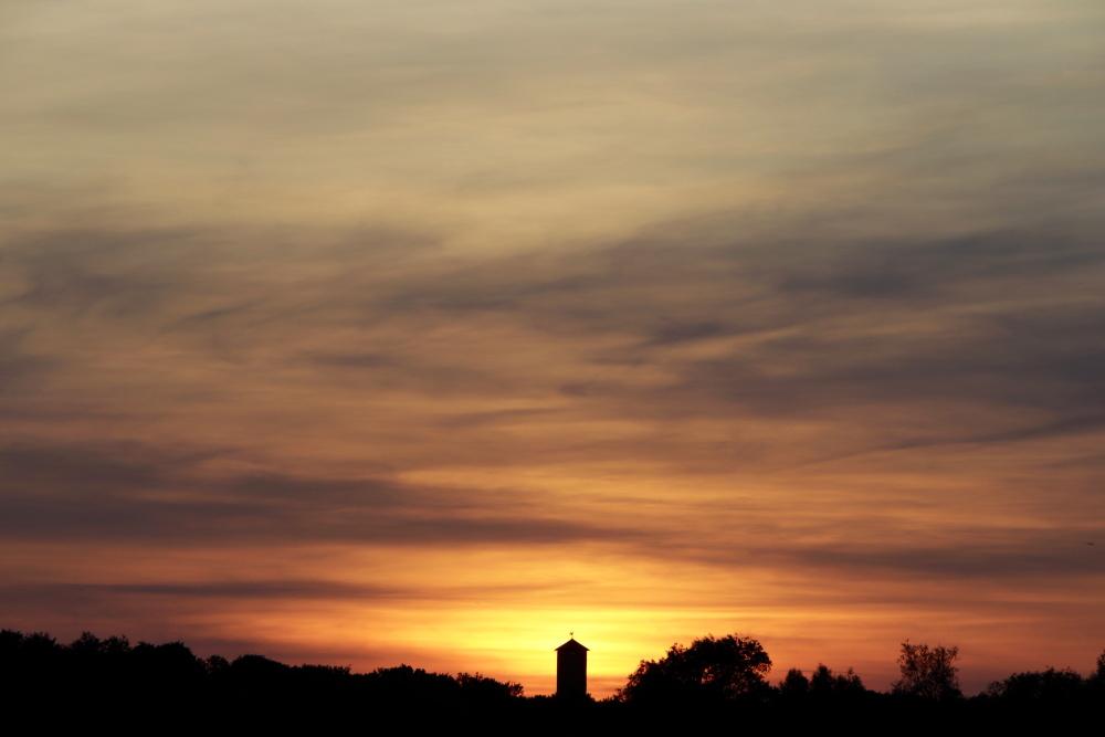 Sonnenuntergang in Lünen am 31. Mai - Aufnahme 2