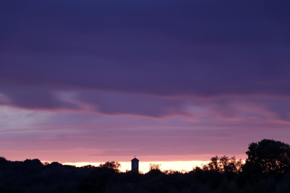 Sonnenuntergang in Lünen vom 13. Mai 2020