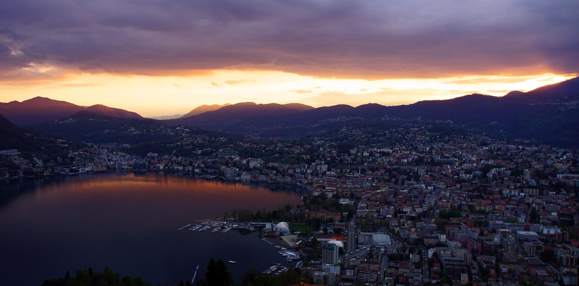 Sonnenuntergang in Lugano 1