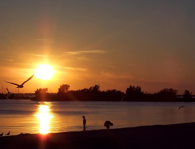 Sonnenuntergang in Makkum