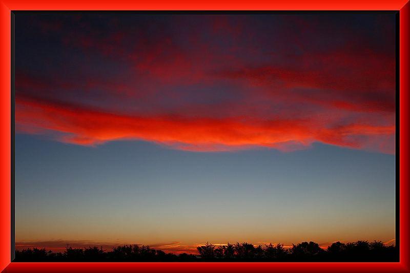 Sonnenuntergang in Mc Laren Vale vom Camping Ground