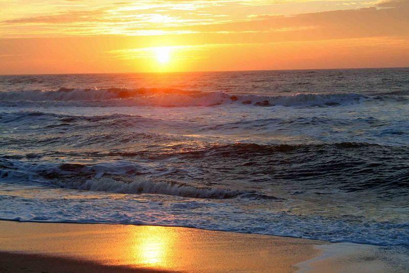 Sonnenuntergang in meiner heimat