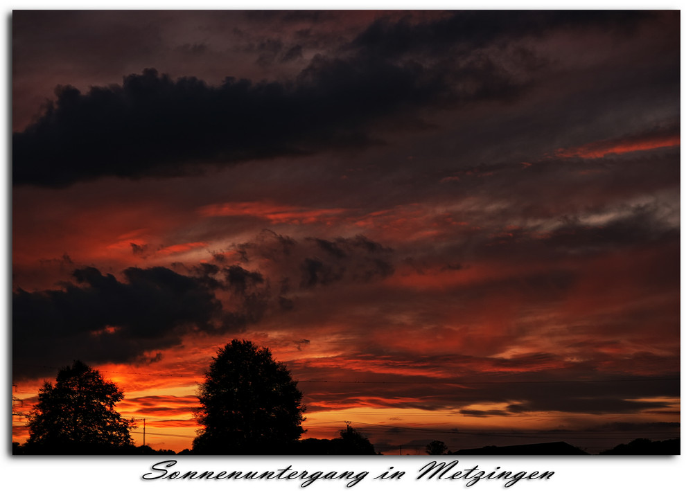 Sonnenuntergang in Metzingen