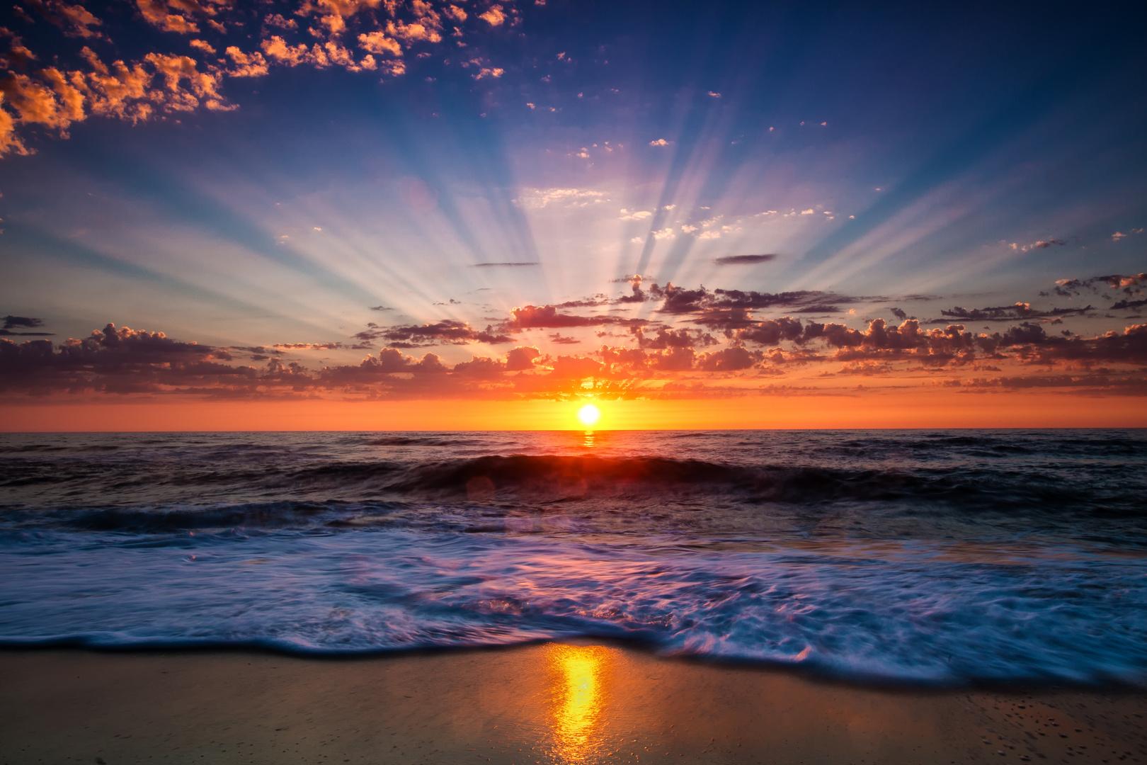 Sonnenuntergang in Mira Portugal