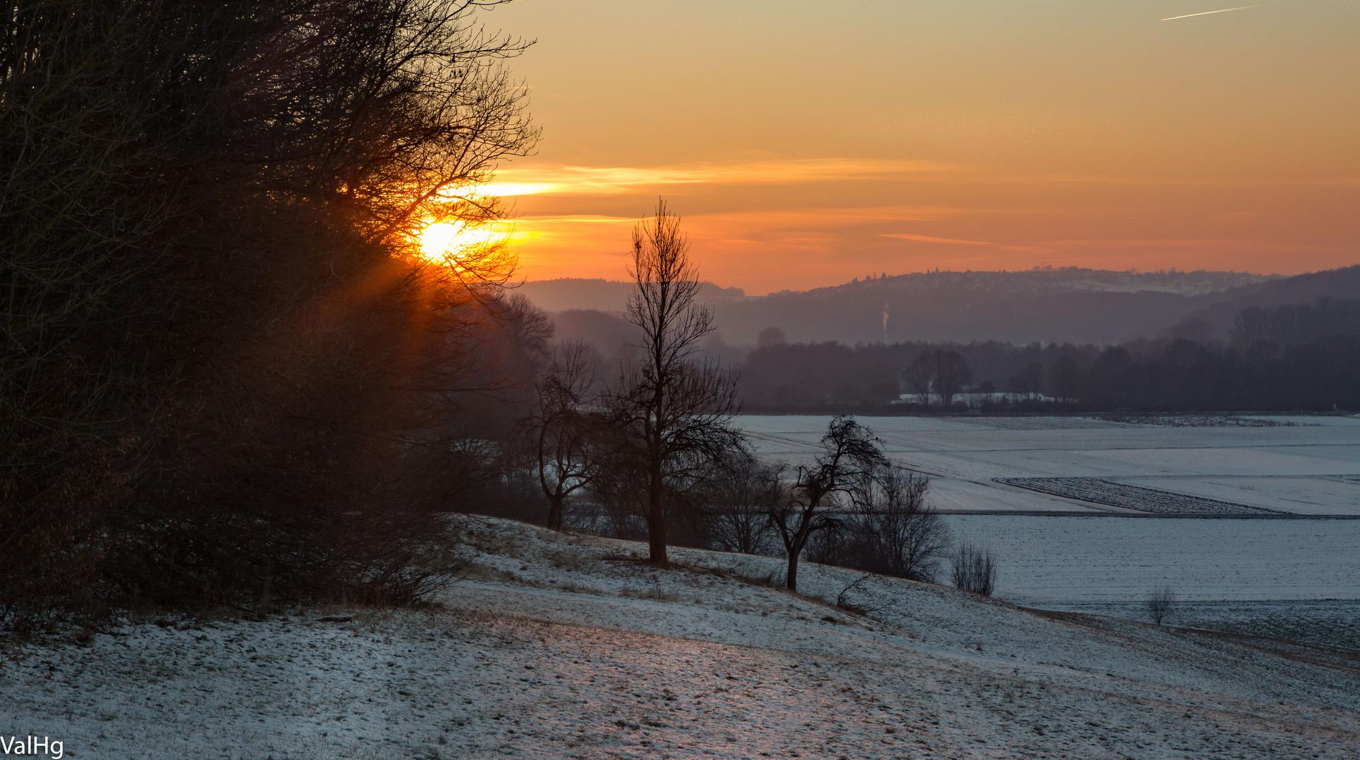 Sonnenuntergang in Neckartailfingen