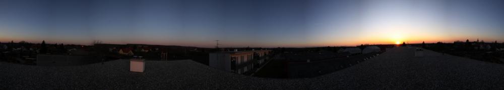 Sonnenuntergang in Neudorf