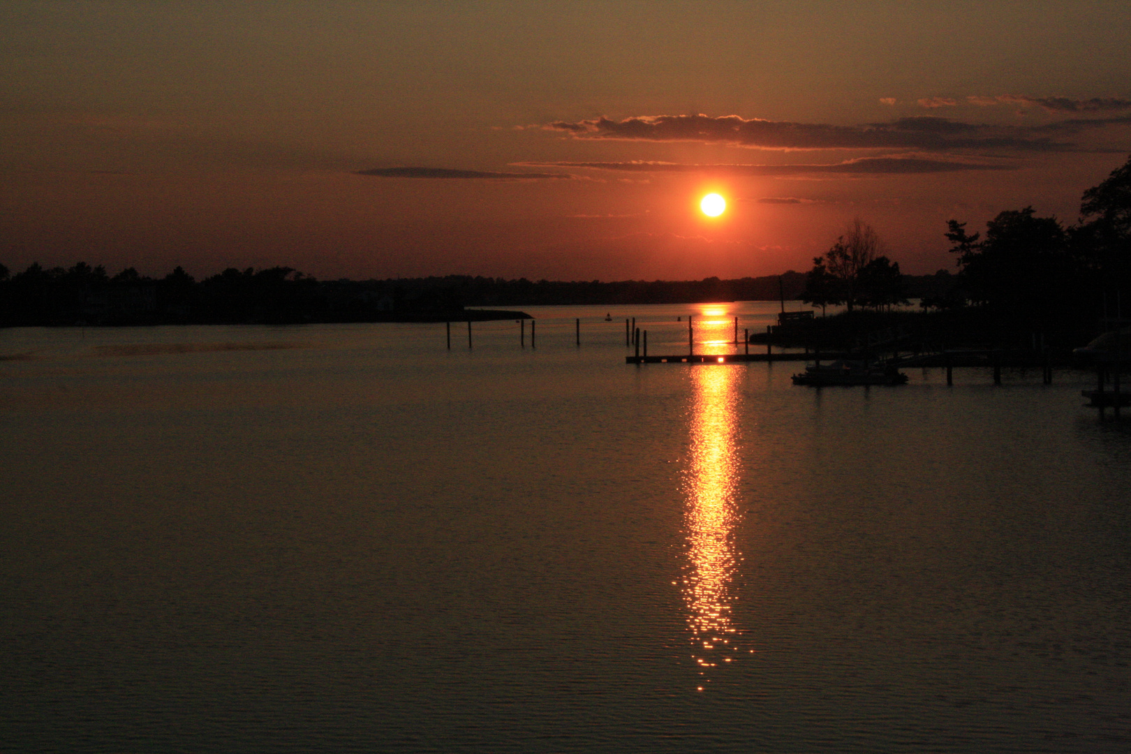 Sonnenuntergang in New Jersey