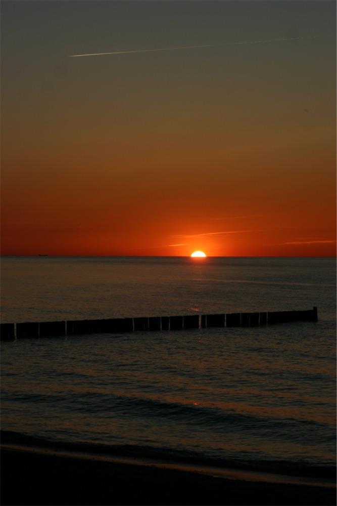 Sonnenuntergang in Nienhagen,