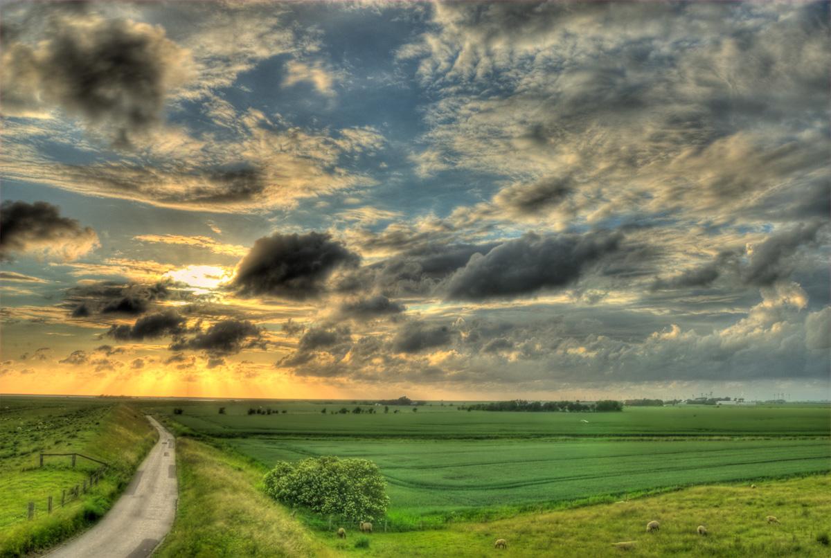Sonnenuntergang in Nordfriesland