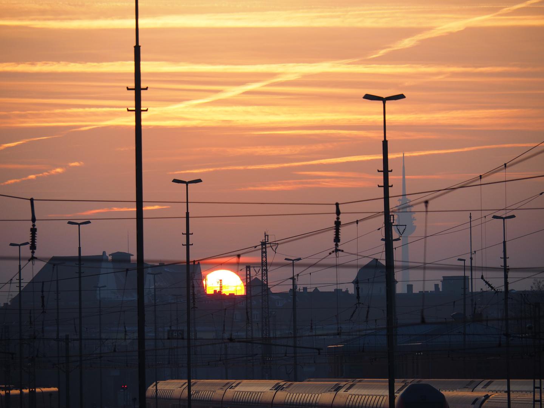 Sonnenuntergang in Nürnberg