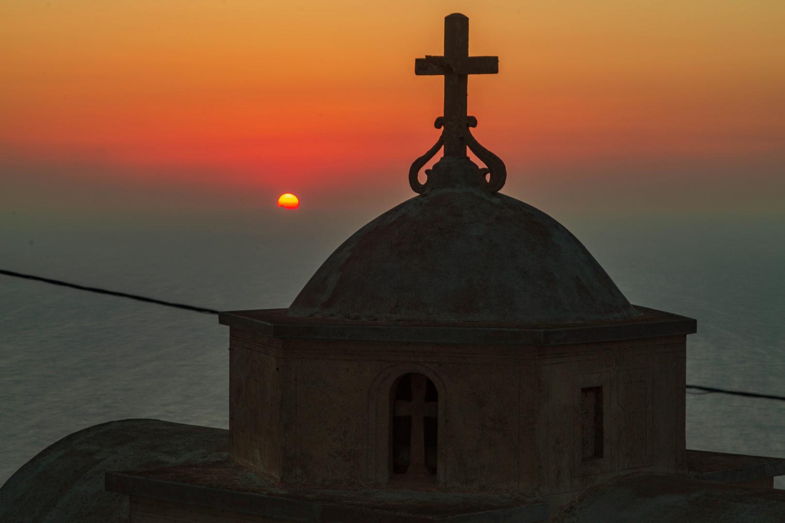 Sonnenuntergang in Olymbos