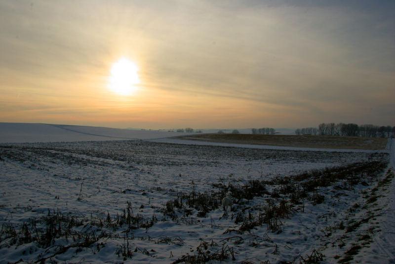 Sonnenuntergang in Otzberg Lengfeld