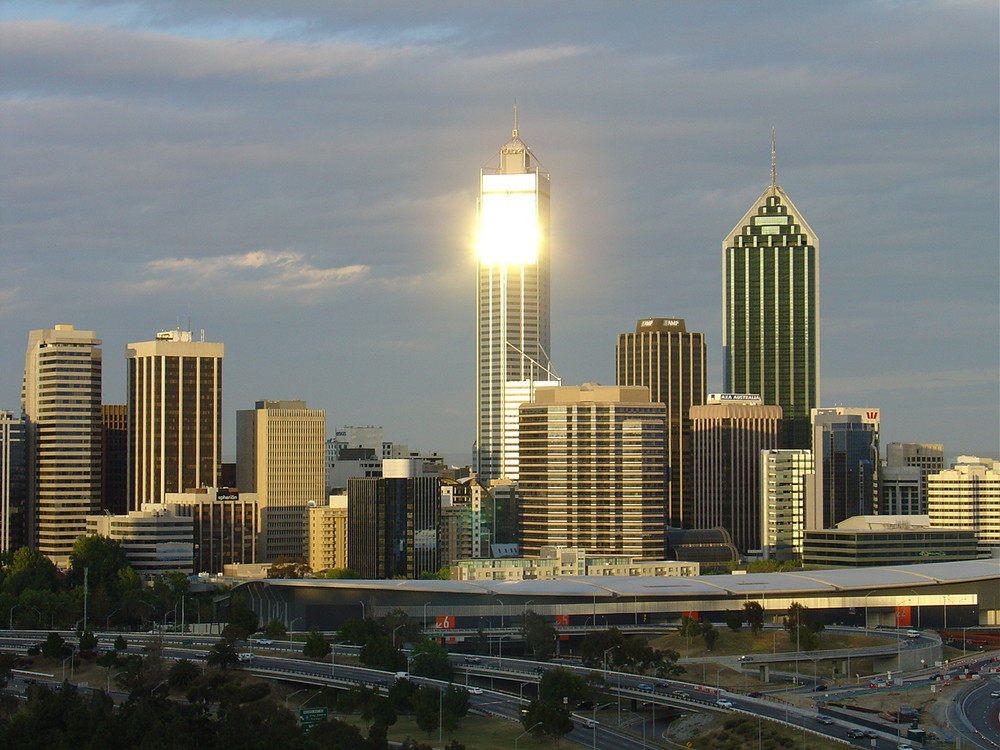 Sonnenuntergang in Perth WA