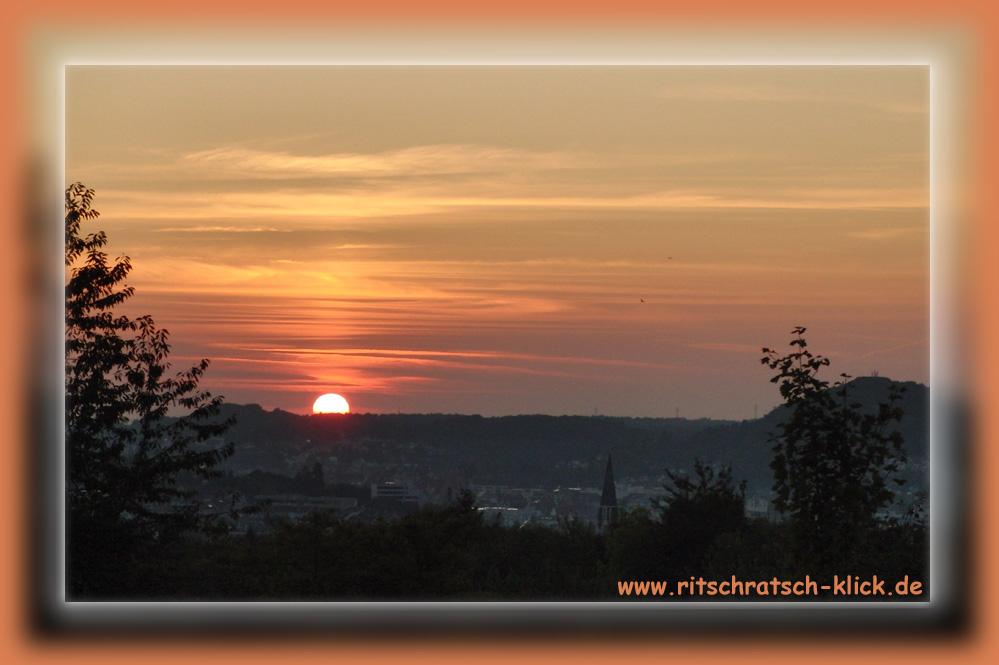 Sonnenuntergang in Pforzheim