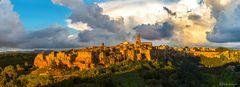 Sonnenuntergang in Pitigliano