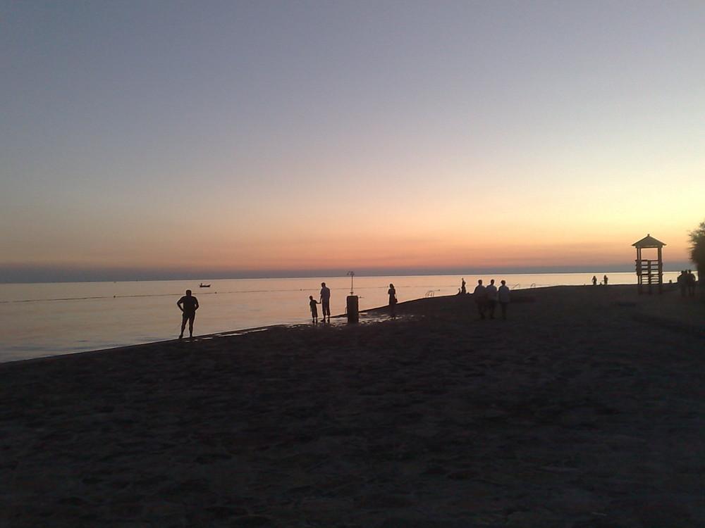 Sonnenuntergang in Poréc