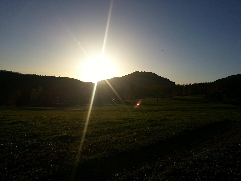 Sonnenuntergang in Ramsau , Österreich