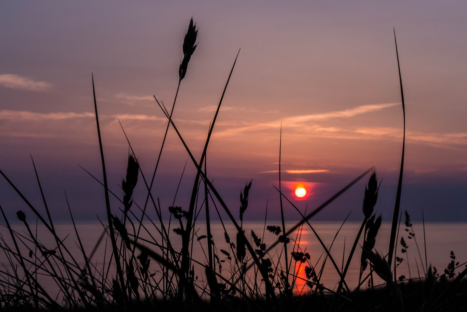 Sonnenuntergang in Rantum