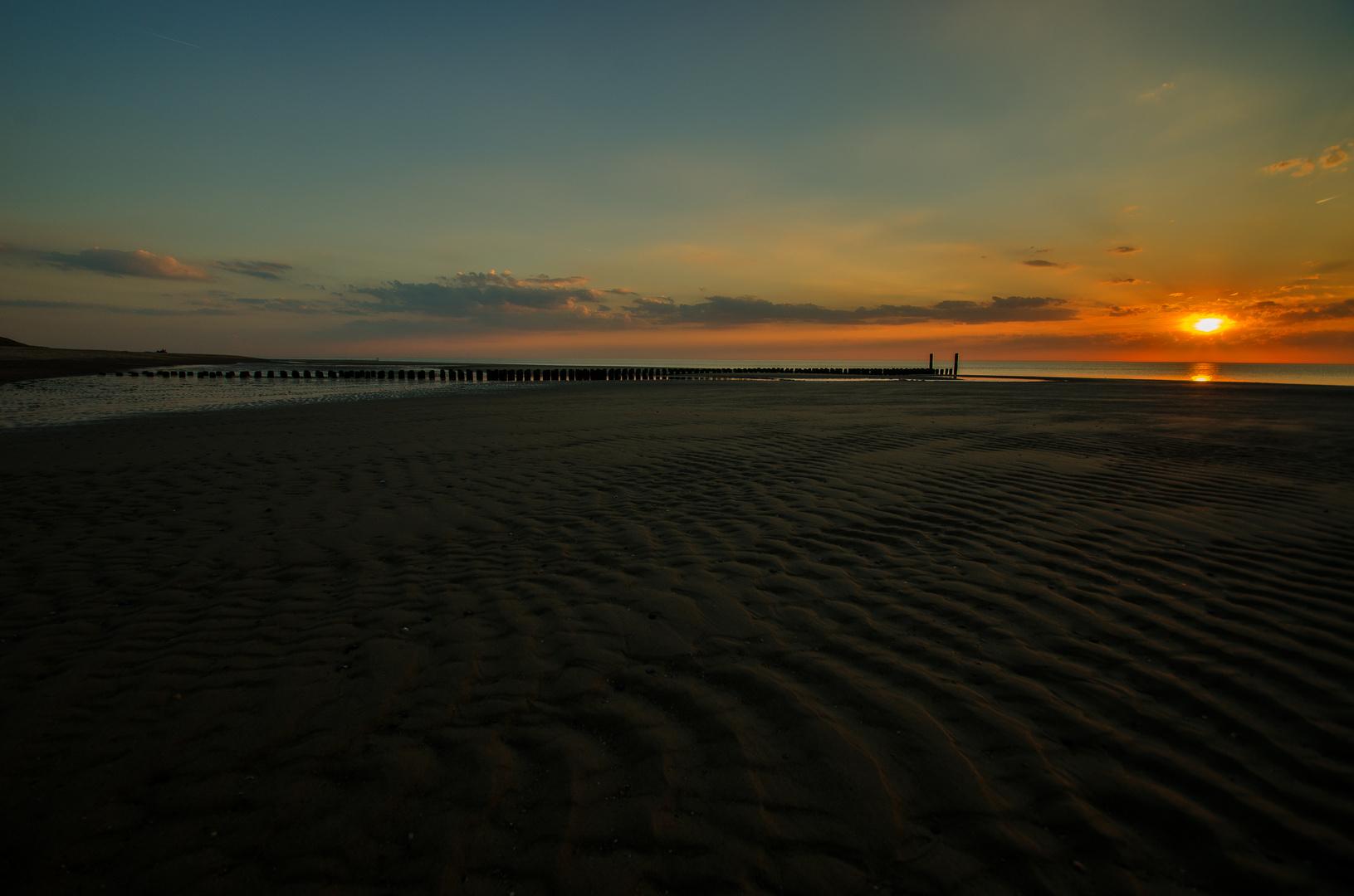 Sonnenuntergang in Renesse
