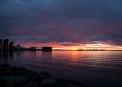 Sonnenuntergang in Reykjavik