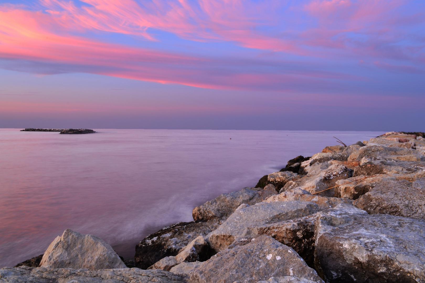 Sonnenuntergang in Rimini