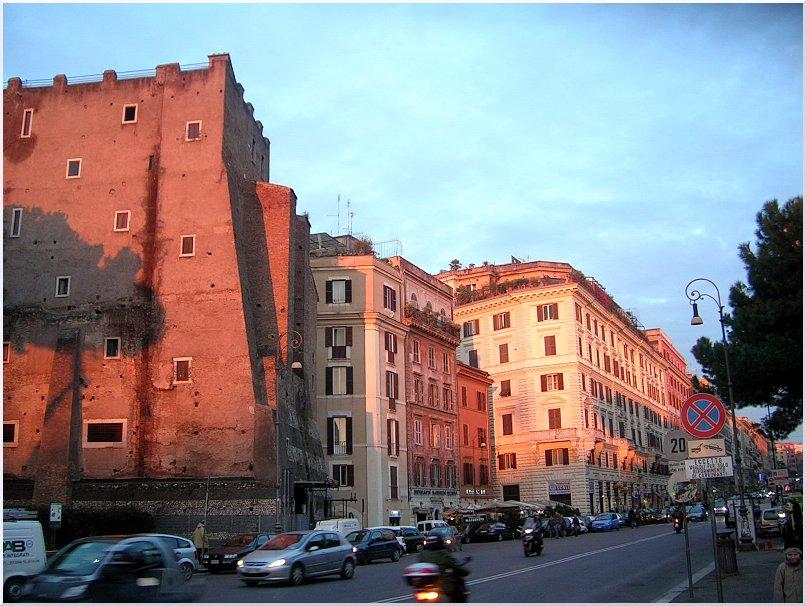 Sonnenuntergang in Rom.....