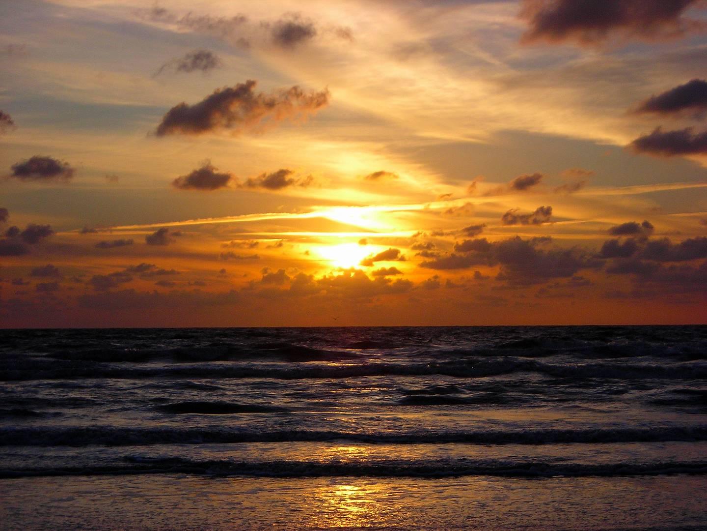 Sonnenuntergang in Sankt Peter Ording