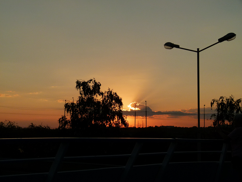 Sonnenuntergang in Saporozhje
