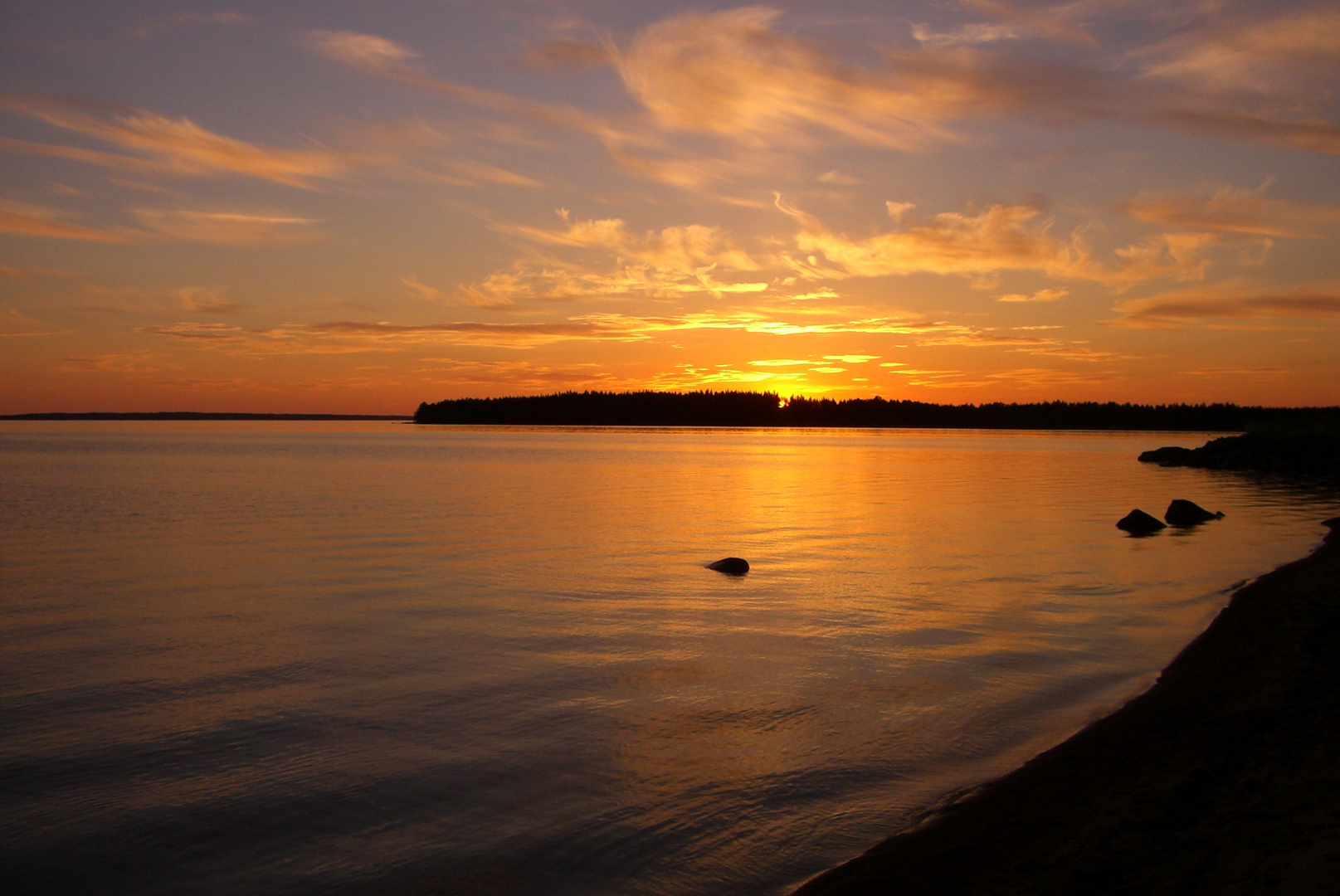 Sonnenuntergang in Schweden (Skagernsee)